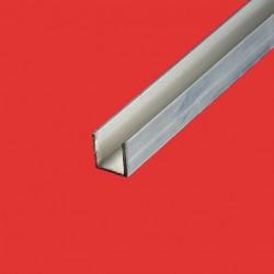 Profilé u aluminium 50x100