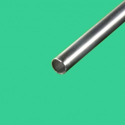 Tube inox brossé diametre 33,7 mm