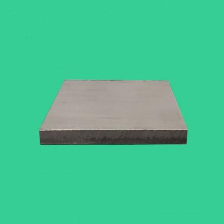 Platine inox 80 x 80 mm