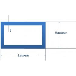 Tube rectangulaire acier 60x34